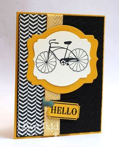 curri, cycl celebr, stamp sets, diy crafts, bicycl card, up cycle, paper crafts, black, stampin up cards