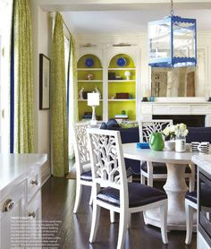 blue + green + white, oh my = perfect for a beach house