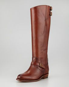 Frye Dorado Buckled Leather Riding Boot. A normal person looks at this and sees a riding boot. I look at this and see a Jedi boot. Either way, I love it.