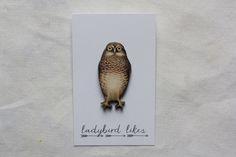 Vintage style owl brooch