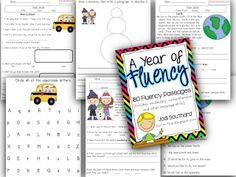 A Year of Fluency Passages {180 passages...each passage includes comprehension skills, vocabulary development, and a home connection.}