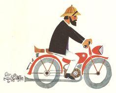 """From German children's book """"Die Kinderbrücke"""" illustrated by Eva Bruchmann, 1962. (via Flickr by sticknobills)"""