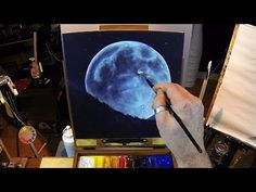 ▶ How To Paint A Full Moon - Acrylic Painting Lesson Preview - YouTube