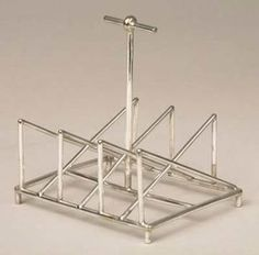 Toast rack made of electroplated silver, designed by Christopher Dresser about 1880. http://www.liverpoolmuseums.org.uk/walker/collections/craftdesign/design/highvictorian/toastrack.aspx