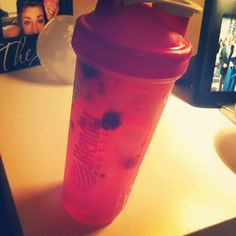 Homemade flavored water!! Fresh rasberries, 1/2 lemon, let it soak for a day then add lots and lots of ice! Soooo refreshing and good!! #healthy