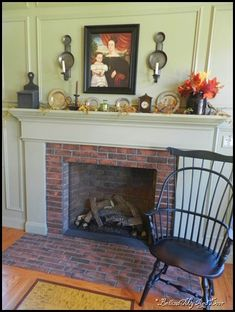 Love this prim fireplace!