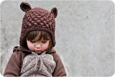 Custom Crochet Bear Hat Brown Wool Acrylic by KatGoldinDesigns --> ordering one for Monty!