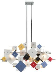 Customizable chandelier by Possini allows you to change up and rearrange the squares however you want!