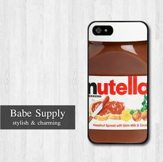iPhone 4 case, iPhone 4s case, iPhone 4 hard cover - Nutella Bottle on Etsy, $8.99