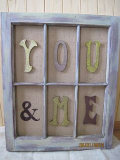 Old Window Decor YOU & ME Reclaimed Bedroom by ThreeTwigsDesigns, $78.00