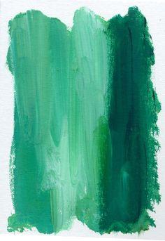 ombre in kelly emerald green artwork.