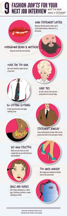 9 Fashion Don'ts for Your Next Job #Interview #careers