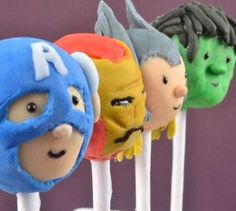 Make Earth's Mightiest Avengers Cake Pops for a superhero-themed birthday party!