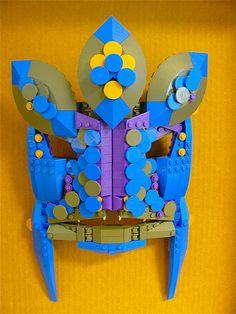 LEGO Mask  #lego #legoart #legosculpture #legomodel #tribalmask #legomask #mask