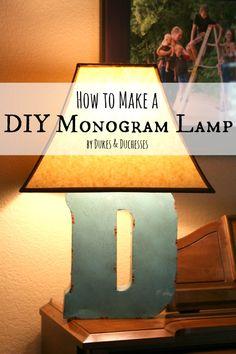 how to make a DIY monogram lamp