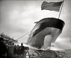 "U.S. ""Launch of steamer Frank J. Hecker."", St. Clair, Michigan, 1905"