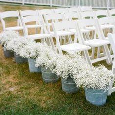 aisle flowers.
