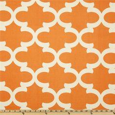 Premier Prints Fynn Fabric in Cinnamon, $7.75 per Yard (burnt orange and ivory geometric print)