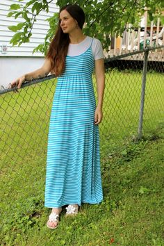 Modest, long maxi dress from Modest Mom blog