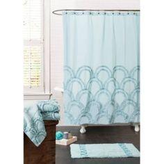 Esme Spa 72-Inch x 72-Inch Shower Curtain in Blue - BedBathandBeyond.com