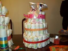 girl idea, baby shower cakes, baby shower ideas, diaper cakes, babi girl, cake diaper, babi shower, baby showers
