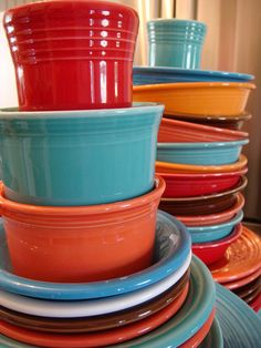 Stacked Fiesta by Photography by Jen, via Flickr. She has an amazing collection. I love all her vintage pieces/colors