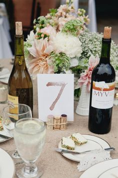cork table numbers