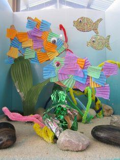 Play Aquarium from Cardboard Box