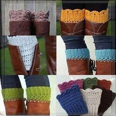 Crochet boot leggings these are great for someone with really skinny legs and a wide boot top fills in the gap so well craft, idea, cloth, style, crochet boot cuffs, knit, boot socks, boots, leg warmers