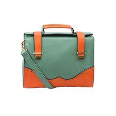 Color Block Handbag.