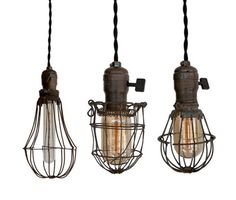 A collection of Vintage lighting...so cool!