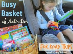 Busy Basket of Activities for Road Trips