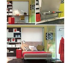 Murphy Bed in action space save, murphy beds, desks, hous, murphi bed, small space, wall beds, design, bedroom