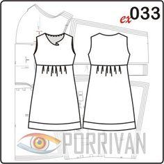 Выкройка для платья из шифона с драпировкой