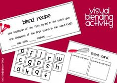 Visual Blending Activity to work on initial consonant blend sounds by theautismhelper.com