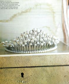 Mikimoto Tiara with 130 pearls and 1.6 carats of diamonds.