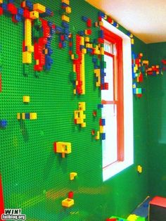 Cute idea for a little boys room or play room. Maybe just a small section of the wall even...