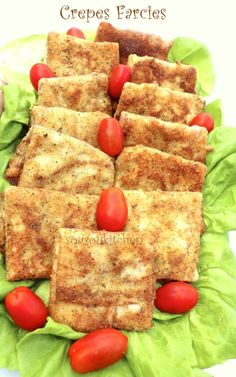 Stuffed Crepes with Chicken/Crepes Farcies au Poulet-Ramadan Special-Sousoukitchen http://youtu.be/giU7sRtyAw4