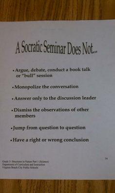 socratic seminar | Socratic Seminar does not...