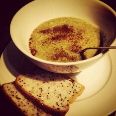 CREAM OF BROCCOLI SOUP WITH QUINOA http://spooningaustralia.com/recipes/broccoli-soup/ Now winter is back it is time for some soups and slow cookers! I had a fridge full of broccoli last week, as I am stupid, and needed to do something with it - whipped up this easy, superb, delicious, cheap, healthy, vegan, sugar free, paleo (with adjustments if required) soup that wasn't a bowl of water - suss and enjoy this recipe for CREAM OF BROCCOLI SOUP WITH QUINOA. #nomnom