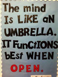 Open mindedness......