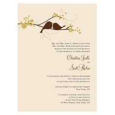 invit idea, wedding invitations love birds, dream, cake inspir, weddings, birdi, fun, bird nerd, bird invit