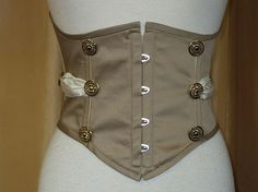 Underbust corset by SteampunkDecadence on Etsy, €69.00