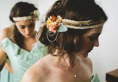 bridesmaid headpieces, photo by Kym Ventola Photography http://ruffledblog.com/elysian-los-angeles-wedding #accessories #hair
