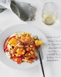 Chicken Stir-Fry with Corn, Pineapple and Red Pepper // More Easy Stir-Fry Recipes: http://www.foodandwine.com/slideshows/stir-fry #foodandwine