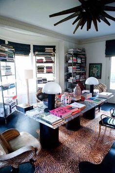 Stacks on stacks on stacks... of books! http://www.thecoveteur.com/kelly_wearstler
