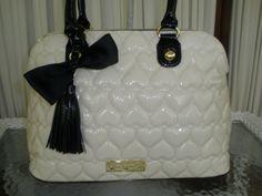 Betsey Johnson Dome Satchel Be Mine Ivory Purse Handbag