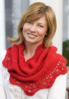 Crochet Cowl Scarf with Lace - Crochet Cuello Bufanda con Encaje