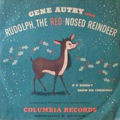 Vintage Christmas Record ~ 78 rpm Rudolph, The Red-Nosed Reindeer by Gene Autry ©1949