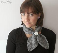Love City: crochet love {ascot neck scarf}